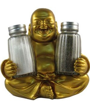 "L5.5"" Buddha Salt & Pepper Holder 12PC"