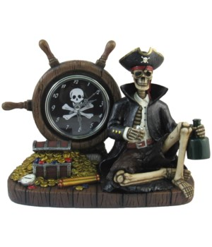 "L10"" Time For Rum (Pirate Clock) 6pcs/cs"
