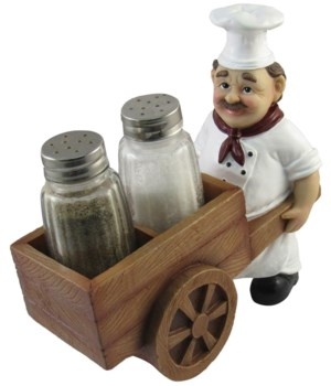 Chef Cart Salt & Pepper Holder 12PC