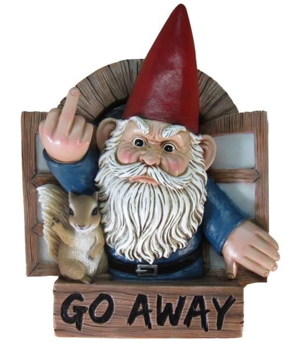 """8.5"""" Grumpy Greeting (Hanging Gnome w/Si"""