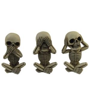 No Evil Skeletons 3 Asst/8 Sets