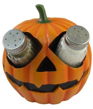 """6"""" Pumpkin Salt & Pepper Holder 12PC"""