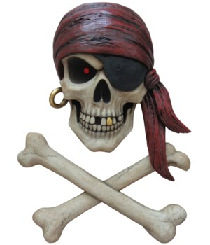 "15.5"" Pirate Wall Hanger 3PC"