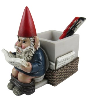 "7"" Gnome Pen Holder 8PC"