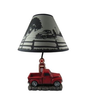 "20"" Big Red Truck Lamp 4PC"