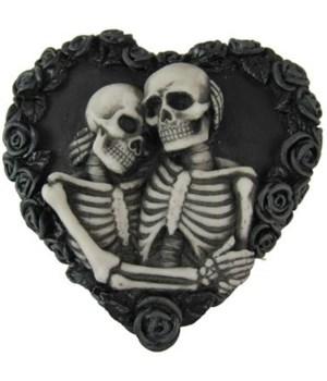 Skull Couple Heart Trinket Box 12PC