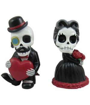 Skeleton Victorian Valentine Couple 12PC