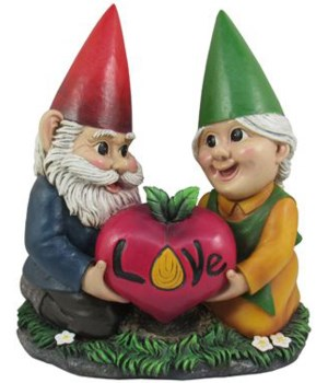 "7.75"" Gnome Love Grow Couple 8PC"