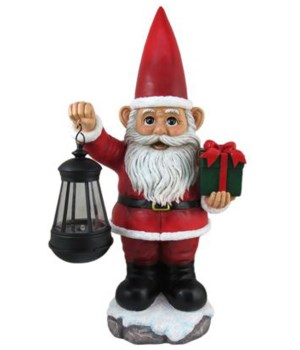 "16"" Santa with Lantern 1PC"