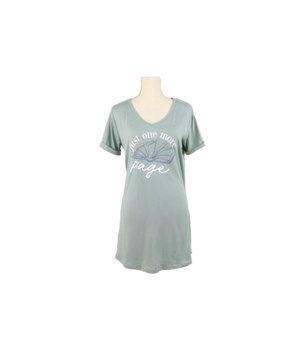 S/M Gray V-Neck Sleep Shirt 2PC