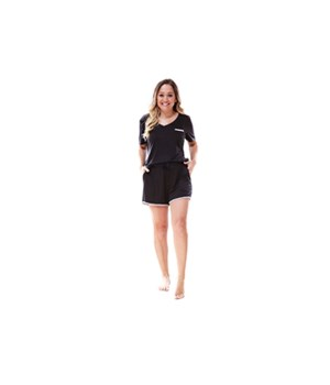 Small Black Short Sleeve Tee 2PC