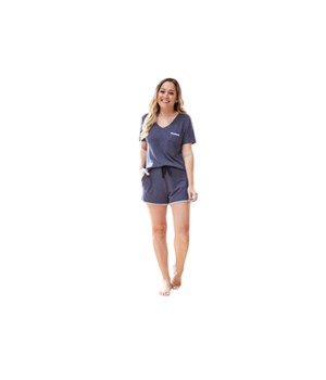 Large Navy Short Sleeve Tee 2PC
