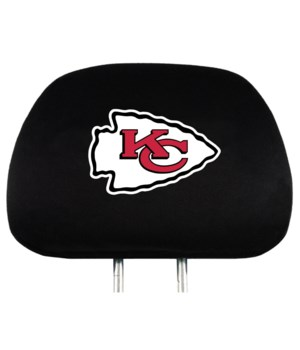 HEAD REST COVER - KC CHIEFS