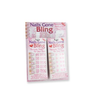 Valentine Nail Bling Strips 24PC
