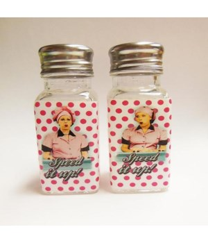 LUCY SALT & PEPPER SHAKERS