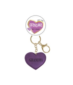 Grandma Heart Keychain 24PC