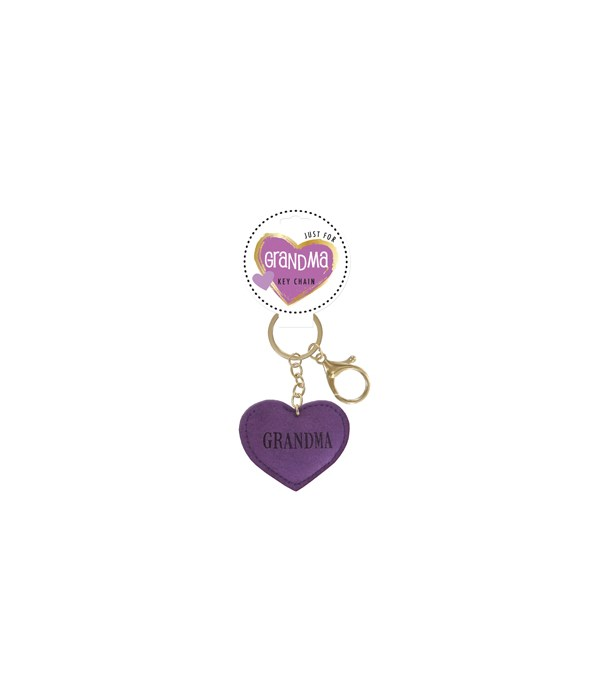 Grandma Heart Keychain 24PC