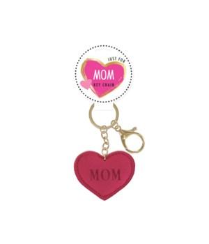 Mom Heart Keychain 24PC