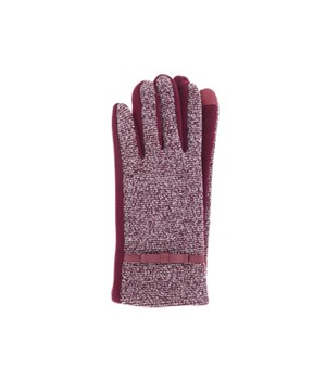 Burgundy Two-Tone Texting Gloves 3PC