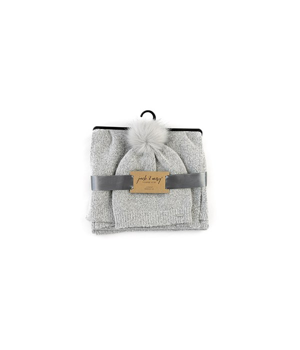 Essential Knitwear Set-Hat & Scarf 12PC