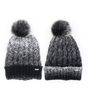 Black Chalet Hat 3PC