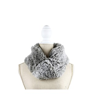 Gray Chalet Sherpa Inf Scarf 6PC