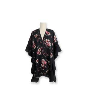 Black Floral Kimono 2PC Refill