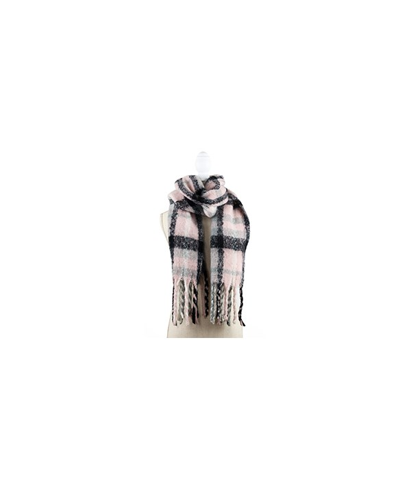 Pink Oversized Scarf 3PC