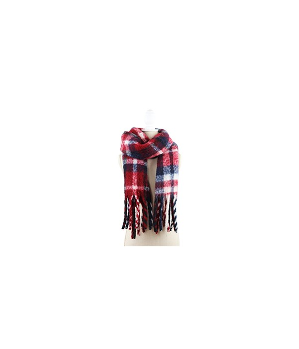 Red Oversized Scarf 3PC