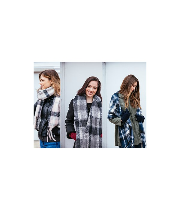 The Oversized Scarf 12PC