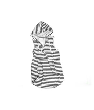 L/XL Gray Hooded Terrycloth Cover-Up 2PC