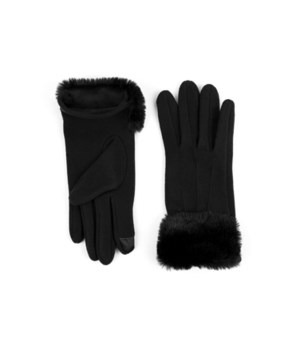 Black Socialite Fleece Gloves 6PC