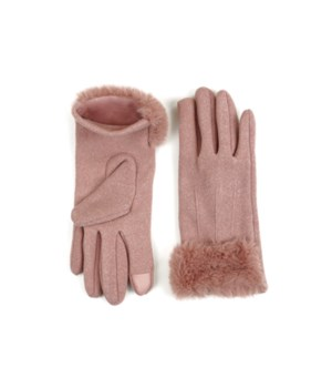 Blush Socialite Fleece Gloves 6PC