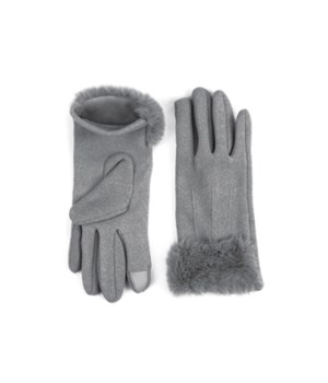 Gray Socialite Fleece Gloves 6PC