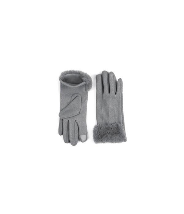 Gray Socialite Fleece Gloves 6PC