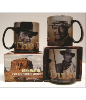 JOHN WAYNE EMBOSSED MUG - COLLAGE  - #5