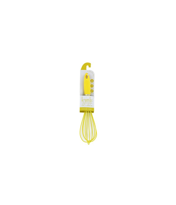 Yellow Silicone Wisk 6PC