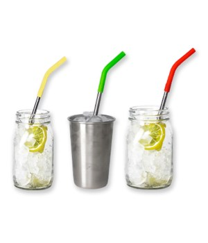 Drinking Straws – 4 pk w/Brush - 24PC
