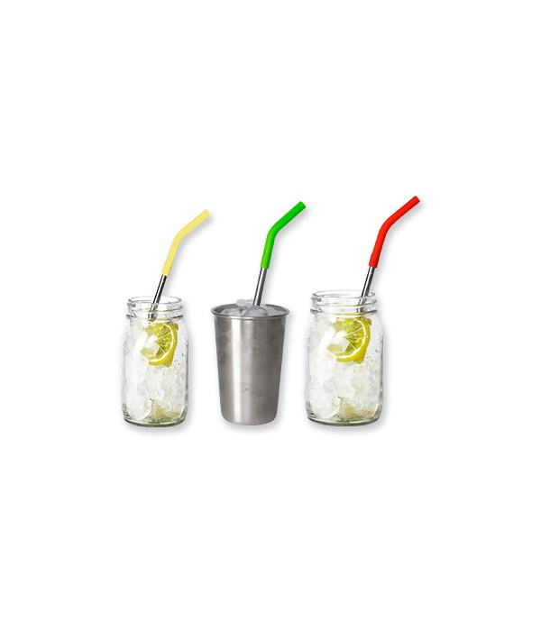 Stainless Steel Drinking Straws - 4-Pack