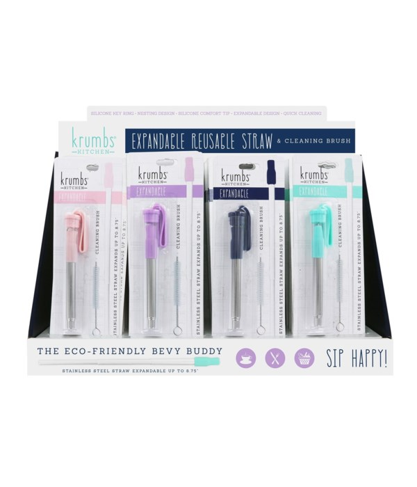 Expandable Steel Straw 24PC