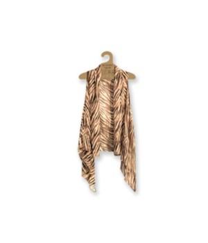 Sheer Vest: Brn/Beige-Animal 3PC Refill
