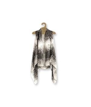 Sheer Vests: Blk-White-Zebra 3PC Refill