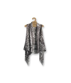 Lavello Sheer Vests-Charcoal (3 pc. min)