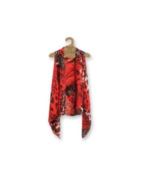 Sheer Vest: Red-Black-Animal 3PC Refill