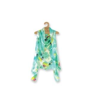 Lavello Sheer Vest - Floral-Mint 3PC