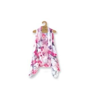 Lavello Sheer Vests-3PC Unit-Pink/Rose