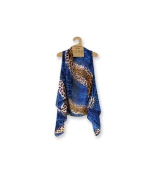 Lavello Sheer Vests-3 pc cobalt/tan anim