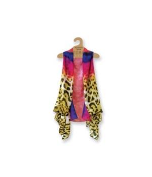 Lavello Sheer Vests-3 pc tie-dye leopard