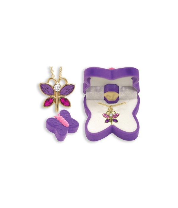Butterfly Pendant with Box ASST 6PC