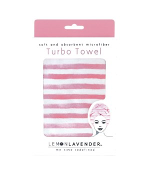 Pink & White Stripes Turbo Towel 3PC